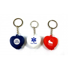 Resq-Aid® CPR Shield w/ One-way Check Valve, Filter, Heart Keychain & Print