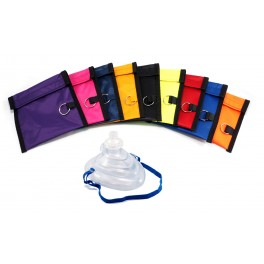 Rescuer® CPR Mask w/ O2 Inlet, Valve & Nylon Pouch
